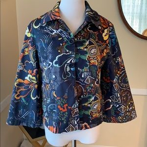 Chico's Size Sm. Flowered Jacket in EUC/Chico's 0